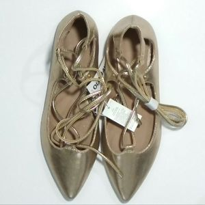 NWT Old Navy lace up flats 7